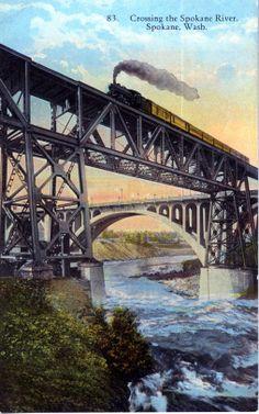 Crossing the Spokane River