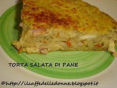 Perfetta per riciclare il pane raffermo in modo diverso dal solito!http://ilcaffedelledonne.blogspot.it/2015/01/torta-salata-di-pane-raffermo.htmlamelie