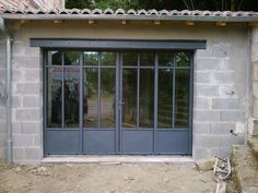 Serrurerie, Vienne, Deux-Sèvres, Charente-Maritime - SARL THEVENET PERE ET FILS Aluminium French Doors, Garage Transformation, Steel Doors And Windows, Gym Room At Home, Backyard Pavilion, Garage Studio, Garage Door Design, Forest House, House Windows