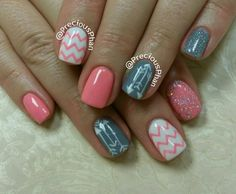 Chevron nails. Arrows. #PreciousPhanNails