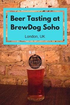 An evening of beer tasting at BrewDog Soho in London