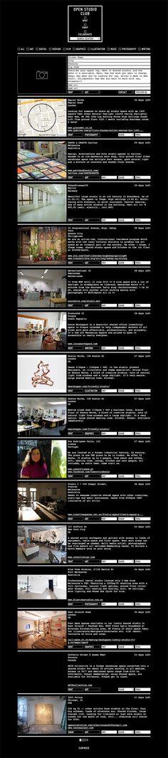 Find a studio with Open Studio Club website