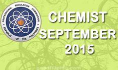 September 2015 Chemist PRC Board Exam Results - List of Passers (September Board Exam Result, Exam Results, Chemistry, Announcement, September, Boards, Top, Planks, Crop Shirt