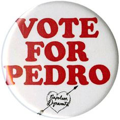 Napoleon Dynamite Vote For Pedro Pin | Hot Topic ($1.59) ❤ liked on Polyvore featuring accessories and fillers