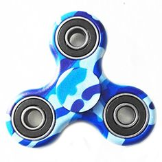 Spinner Fidget Spinner Toy Hand EDC Focus Toy for Kids Adults – Stress Reducer Anxiety Relieves, Ceramic (Army Blue)