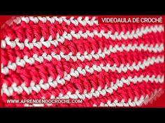 Blusa em Crochê Ponto Ondas   www.katiaribeiro.com.br Crochet Stitches Patterns, Stitch Patterns, Crochet Mittens, Stitch 2, Crochet Videos, Love Crochet, Lana, Knitting, Crocheting