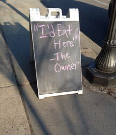 I'd eat there.