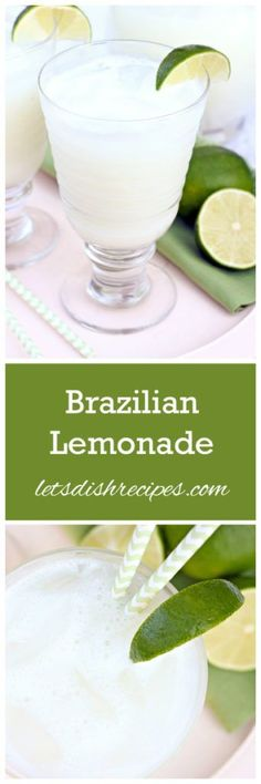 Brazilian Lemonade Recipe | Made with limes, this Brazilian Lemonade is so refreshing!