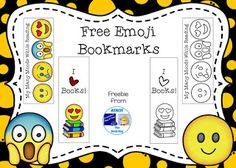 I& just popping in to let you know about some new bookmarks I made this week. We& been off on mid-winter break so we& been. Emoji Bookmarks, Bookmarks Kids, Bookmark Craft, How To Make Bookmarks, Classroom Labels, Classroom Freebies, Classroom Passes, Classroom Ideas, Library Themes