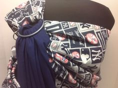 Ring Sling, Baby Sling, New York Yankees, Baby Patterns, Mlb, Baby Car Seats, My Etsy Shop, Navy Blue, Trending Outfits