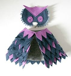 Handmade Owl Costume | This doll-sized owl cos­tume by Erika Har­berts at Mikode­sign is ...