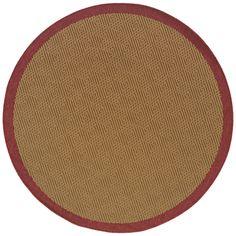 Oriental Weavers Outdoor Beige Red Polypropylene Outdoor Machine-Woven Area Rug