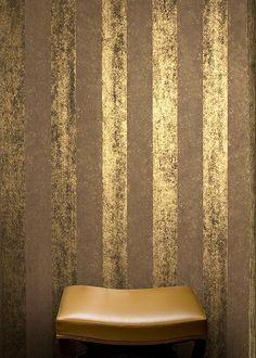 Gold Painted Walls, Gold Walls, Black Interior Design, Interior And Exterior, Textured Wallpaper, Textured Walls, Creative Wall Painting, Venetian Plaster Walls, Glam Room