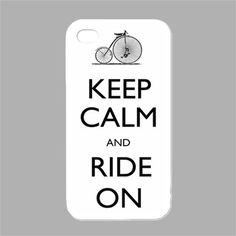 NEW Keep Calm and Ride On iPhone 4 4s Case Cover Keep Calm Case