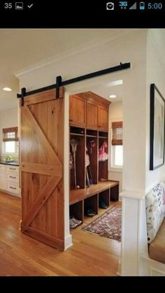 Barn door inside...totally using this one day