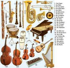 die musikalische Instrumente