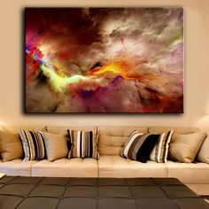 Online shop HDARTISAN canvas art home decor printed oil painting wall pictures for living room abstract unreal clouds no frames Canvas Wall Art, Cloud Canvas Art, Canvas Painting Landscape, Wall Art Pictures, Abstract Canvas Painting, Painting, Oil Painting Abstract, Abstract, Canvas Painting