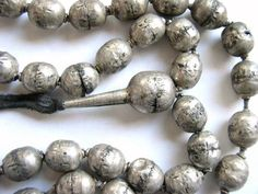 Ethiopian Silver Prayer Beads..i have worry beads from Greece which are smooth...wonder how would these feel on my fingers...