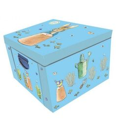 Large collapsible storage box with metal handles to make it easy to carry. Decorative Storage Boxes, Wimpy Kid, Organiser Box, Toy Organization, Peter Rabbit, Beatrix Potter, Kids Toys, Children's Toys, Discount Designer