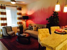 Model Apartment Ombré Accent Paint. Broadstone Corsair for Alliance Residential