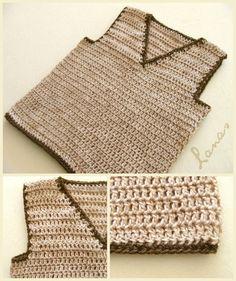 Crochet Patterns Boy Wool of Ana: Baby: 2 Vests Boy Crochet Patterns, Crochet Men, Crochet Baby Sweaters, Crochet Baby Cardigan, Crochet Baby Clothes, Crochet For Boys, Knitting For Kids, Crochet Designs, Crochet Bikini Bottoms