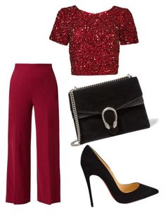 """""""Untitled #57"""" by tunnufn on Polyvore featuring The Row, Christian Louboutin, Parker and Gucci"""