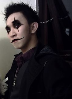 scary gothic men-make-up