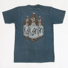 Mans Big Size T Shirt Korn Follow The Leader Top Comfortable Oversize Top Larger Waist Size