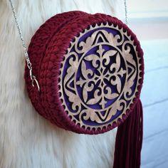 Handmade crochet round bag tshirt yarn bag Круглая сумка из трикотажной пряжи ручная работа хендмейд