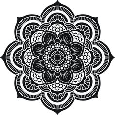 Fiore di vita geometria sacra Mandala Stencil di CreativeStencils