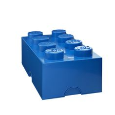 Fab.com | Storage Brick Blue -  Chances are if you have kids, you have LEGO bricks—thousands of them. Shaped like one of the iconic toy building blocks, and created in collaboration with The LEGO Group, it's durable, stackable...and in a variety of colors.