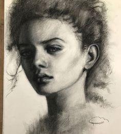 Angel. Charcoal 50x65. Having fun with big canvas  #drawings #digitalart #painting  #illust #crepuscopoli #fineart #sculpting  #artacademy