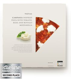 Entrant: Turner Duckworth: London & San Francisco / Country: USA /  Description: Italian food is famous for simple combinations and fresh ingredients and what is considered more 'Italian' than pizza? We were asked by Waitrose to redesign their top-tier pizza range, redeveloped for launch in 2010 using regional ingredients and traditional combinations sourced from and inspired by five Italian regions