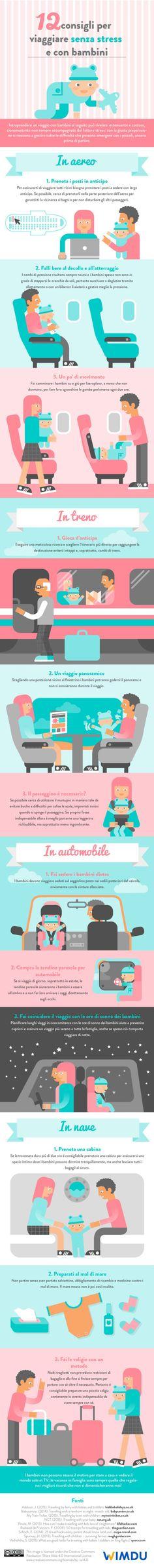 12 consigli per viaggiare senza stress e con bambini - An Infographic from Wimdu Blog