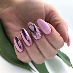 Nail Art 💅 - Nail art, nail art designs, nail ideas, nail shapes and nails acrylic Nail Art Designs, Simple Nail Designs, Acrylic Nail Designs, Cute Acrylic Nails, Cute Nails, My Nails, Short Almond Nails, Broken Nails, Almond Nails Designs