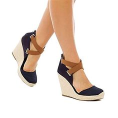 18e7b7ccc766 wedges heels · Summer Fashion OutfitsHigh Fashion DressesPlatform Wedge  SandalsWedge ShoesNavy WedgesWomen s ...
