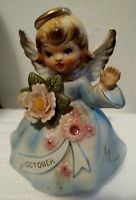 1950s Vintage Lefton Trade Mark Exclusives Japan Music Box Birthday Girl #6985