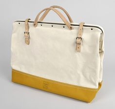 """20"""" CANVAS MASON BAG WITH LEATHER BOTTOM (NO. 304) :: HICKOREE'S HARD GOODS"""