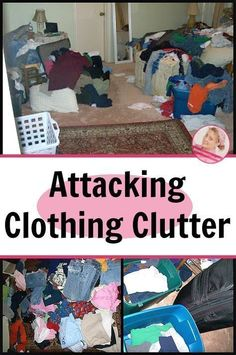 Attacking Clothing Clutter - Get advice and tips on how to rid your home of clothing clutter. - A Slob Comes Clean Getting Rid Of Clutter, Getting Organized, Deep Cleaning Tips, Cleaning Hacks, Cleaning Closet, Cluttered Bedroom, A Slob Comes Clean, Clutter Control, Declutter Your Life