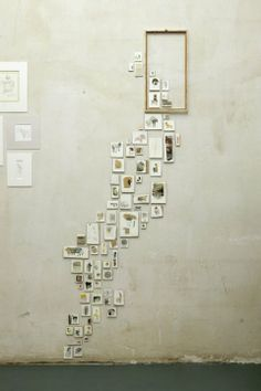 Cool way to display a special tiny collection! Love the courage in this installation!
