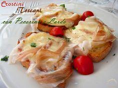 Crostini con pecorino e lardo   Cucinare Meglio