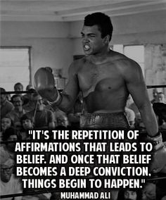 Ever wonder why Muhammad Ali was the greatest of all times?  He shares a hint in this quote...