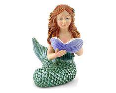 Miniature Dollhouse FAIRY GARDEN Ocean ~ MINI Green MERMAID LAGOON with Pearl