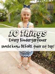 What should a child know before Kindergarten is answered by a former Kindergarten Teacher herself! 10 Kindergarten skills that are really helpful for them to know before they enter their classroom and how you can help them learn these at home so they feel Starting Kindergarten, Kindergarten Readiness, Kindergarten First Day, School Readiness, Kindergarten Teachers, Kindergarten Preparation, Starting School, Learning Activities, Gardens
