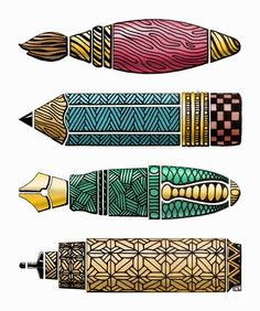 Zentangled writing instruments - DREAM it UP !: Zensdays with Lynell and Wayne Doodles Zentangles, Tangle Doodle, Tangle Art, Zen Doodle, Doodle Art, Doodle Patterns, Zentangle Patterns, Illustrations, Illustration Art
