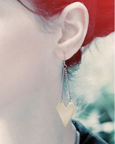 Brass Arrowhead Earrings by JewelMint.com, $24