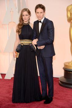 Pin for Later: Seht alle Stars bei den Oscars! Eddie Redmayne und Hannah Bagshawe