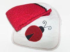 Large Burp Cloths and Baby Bib  Ladybugs for by PeaPodLilFrogs #babygirl #babybibs #ladybugs #burppads #babyshower