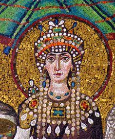 Byzantine mosaic of Empress Theodora at the Basilica of San Vitale in Ravenna, Italy