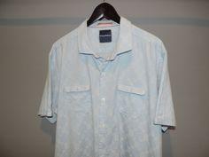 Tommy Bahama Designer Blue Plaid double Pocket Cotton Hawaiian Shirt XL Mint #TommyBahama #Hawaiian